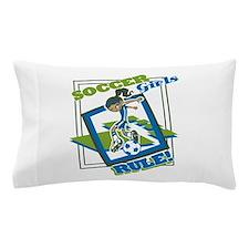 Soccer Girls Rule Pillow Case