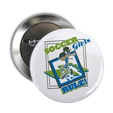 "Soccer Girls Rule 2.25"" Button"