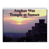 Sunset at Angkor Wall Calendar