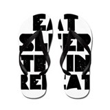 EAT SLEEP TRAIN REPEAT Flip Flops