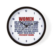 Pro Choice Women Wall Clock