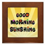 Good Morning Sunshine Framed Tile