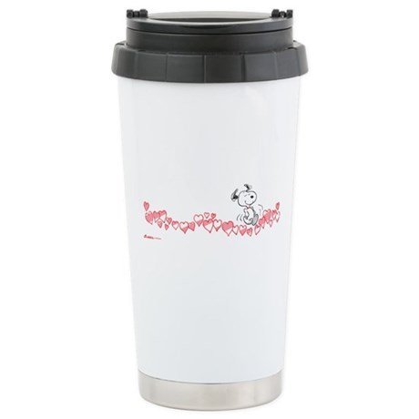 Happy Hearts Ceramic Travel Mug