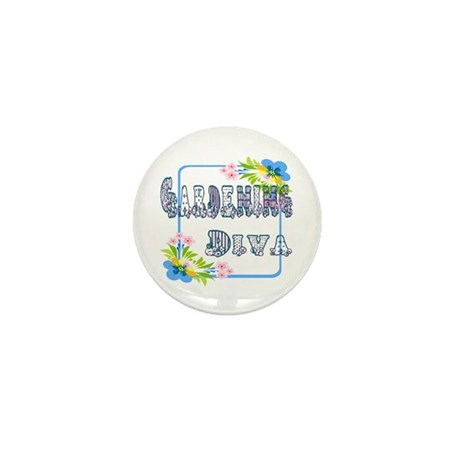 Gardening Diva Mini Button