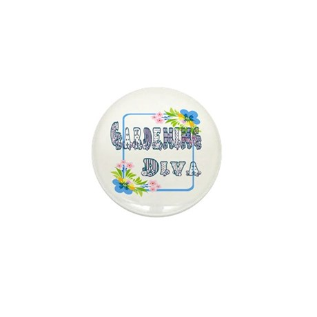Gardening Diva Mini Button (100 pack)