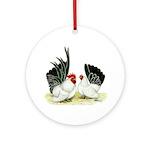 Japanese Black White Bantams Ornament (Round)