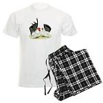 Japanese Black White Bantams Men's Light Pajamas