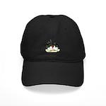 Japanese Black White Bantams Black Cap