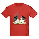 Japanese Black White Bantams Kids Dark T-Shirt