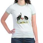 Japanese Black White Bantams Jr. Ringer T-Shirt