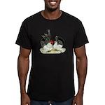 Japanese Black White Bantams Men's Fitted T-Shirt