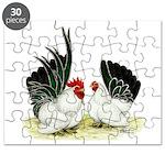 Japanese Black White Bantams Puzzle