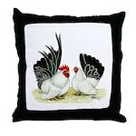 Japanese Black White Bantams Throw Pillow