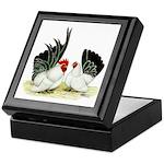 Japanese Black White Bantams Keepsake Box