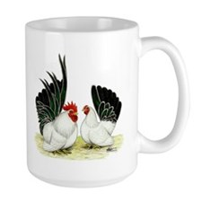 Japanese Black White Bantams Mug