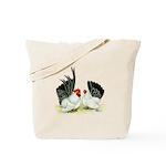 Japanese Black White Bantams Tote Bag