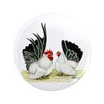 "Japanese Black White Bantams 3.5"" Button (100"
