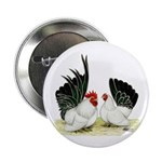 "Japanese Black White Bantams 2.25"" Button (10"