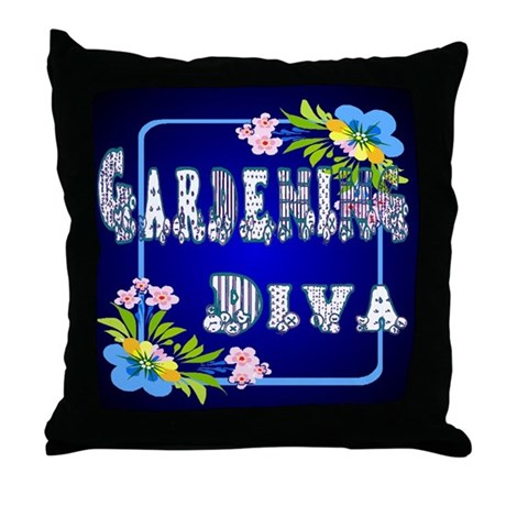 Gardening Diva Throw Pillow
