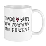 Princess Bride Twoo Wuv Foweva Small Mugs