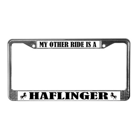 Haflinger Horse Breed License Plate Frame