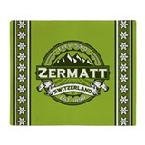 Zermatt Green Throw Blanket