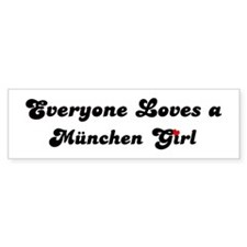 Loves München Girl Bumper Bumper Sticker