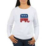 election animal elefant republican Women's Long Sl