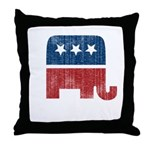 election animal elefant republican Throw Pillow