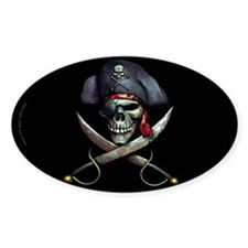 pirate skull -blackDecal