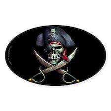 pirate skull -blackDecal