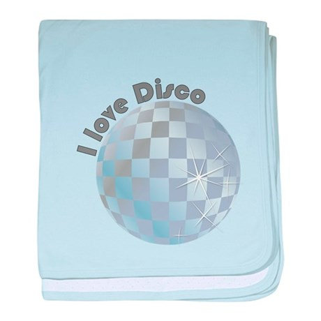 I love Disco baby blanket