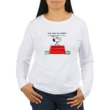 Crabby Snoopy Women's Long Sleeve T-Shirt