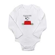 Crabby Snoopy Long Sleeve Infant Bodysuit