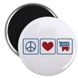"Peace Love Democrats 2.25"" Magnet (10 pack)"