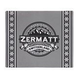 Zermatt Grey Throw Blanket