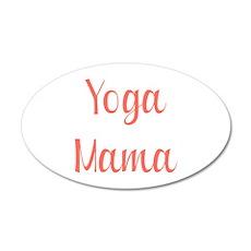 Yoga Mama 22x14 Oval Wall Peel