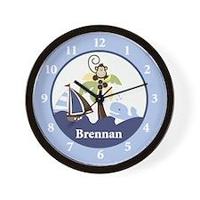Ahoy Mate Monkey Wall Clock - Brennan