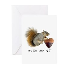 Squirrel Heart Nut Greeting Card