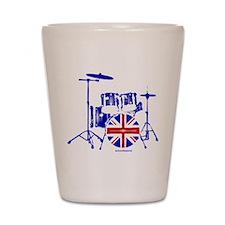 British drum kit... Shot Glass
