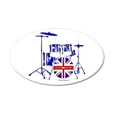 British drum kit... 22x14 Oval Wall Peel