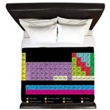 Periodic Table (dark) King Duvet