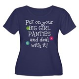 Big Girl Panties Women's Plus Size Scoop Neck Dark