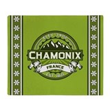 Chamonix Green Throw Blanket