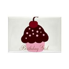 Birthday Girl Cupcake Rectangle Magnet