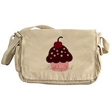 Birthday Girl Cupcake Messenger Bag