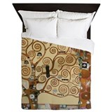 Gustav Klimt Tree Of Life Queen Duvet