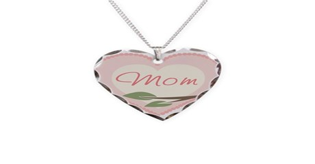 heart shaped mothers day necklace