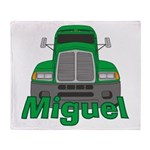 Trucker Miguel Throw Blanket