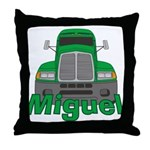 Trucker Miguel Throw Pillow